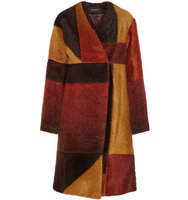 Thakoon Thakoon Patchwork Knitted Coat Brown
