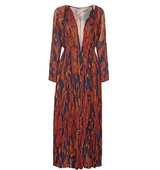 Thakoon Thakoon Pleated Printed Silk chiffon Gown Multi