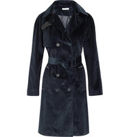 Tomas Maier Tomas Maier Cotton corduroy Trench Coat Navy