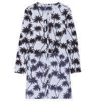 Tomas Maier Tomas Maier Printed Cotton Mini Dress Blue