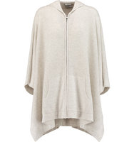 Vince Vince Cashmere Hooded Poncho Light gray