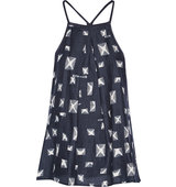 10 Crosby by Derek Lam Printed Silk And Cotton Blend Racer Back Camisole