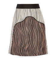 31 Phillip Lim 31 Phillip Lim Striped Silk Faille Skirt Black