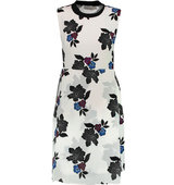 ALC Alc Marci Printed Silk Mini Dress White