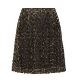 ALICE by Temperley Alice By Temperley Donna Lam Rosette Appliqud Tulle Mini Skirt Gold