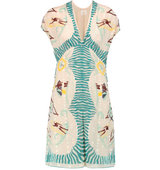 Anna Sui Anna Sui Waikiki Printed Cotton And Silk Blend Fil Coup Mini Dress Ivory
