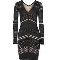 Bailey 44 Bailey 44 Willow Cutout Open Knit Dress Black