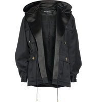 Balmain Balmain Hooded Wool Gabardine Jacket Black
