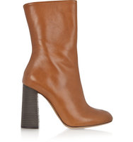 Chloe Chlo Leather Boots Tan