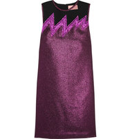 Christopher Kane Christopher Kane Tulle Paneled Lam Mini Dress Grape