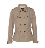 DAY Birger et Mikkelsen Day Birger Et Mikkelsen Palazzo Short Cotton Blend Trench Jacket Mushroom