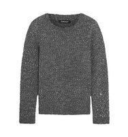 DKNY Dkny Sequined Textured Knit Sweater Anthracite