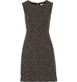 Diane von Furstenberg Diane Von Furstenberg Carrie Two Stretch Cady And Boucl Tweed Dress Black