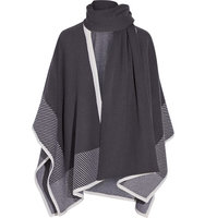 Duffy Duffy Wool And Cashmere Blend Poncho Dark Purple