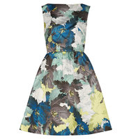 Erdem Erdem Kenya Printed Duchesse Satin Mini Dress Multi