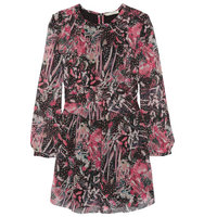 IRO Iro Deylfe Ruffled Printed Silk Georgette Mini Dress Multi