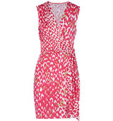 Issa Issa Bobbi Printed Silk Blend Jersey Mini Dress Pink