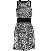 Issa Issa Nicki Jacquard Knit Mini Dress Black