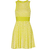 Issa Issa Nicki Jacquard Knit Mini Dress Bright Yellow