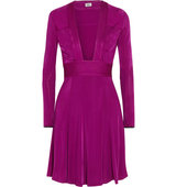 Issa Issa Pheodora Satin Jersey Dress Magenta
