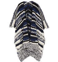 Maje Maje Boucl Knit Wrap Blue