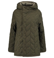 Maje Maje Reversible Quilted Brushed Twill Coat Army Green