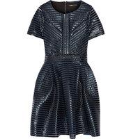 Maje Maje Roybridge Coated Mesh Mini Dress Blue