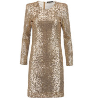 Maje Maje Sequined Tulle Mini Dress Gold