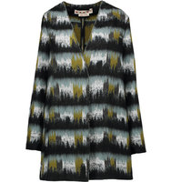 Marni Marni Mohair Trimmed Wool Blend Coat Army Green