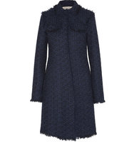 Nina Ricci Nina Ricci Wool Blend Tweed Coat Navy
