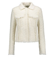 Nina Ricci Nina Ricci Wool Blend Tweed Jacket Cream