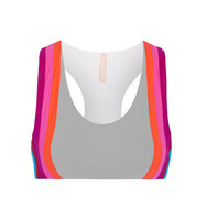 No KaOi No Kaoi Honi Paneled Stretch Jersey Sports Bra Gray