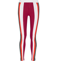 No KaOi No Kaoi Kea Paneled Stretch Knit And Stretch Jersey Leggings Burgundy