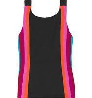 No KaOi No Kaoi Limu Paneled Stretch Jersey Tank Black