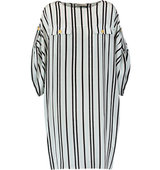 Pierre Balmain Pierre Balmain Striped Silk Crepe De Chine Mini Dress White