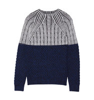 Proenza Schouler Proenza Schouler Cable Knit Wool Sweater Midnight Blue