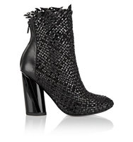 Proenza Schouler Proenza Schouler Woven Matte And Patent Leather Ankle Boots Black