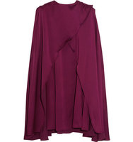 Sonia Rykiel Sonia Rykiel Cape Back Crepe De Chine Mini Dress Plum