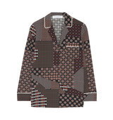 Thakoon Thakoon Addition Printed Crepe De Chine Shirt Claret