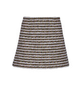 Thakoon Thakoon Cotton Blend Tweed Mini Skirt Black