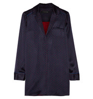 Thakoon Thakoon Satin Jacquard Tunic Midnight Blue