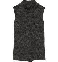 Thakoon Thakoon Split Front Merino Wool Sweater Charcoal