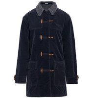 Tomas Maier Tomas Maier Cotton Blend Corduroy Coat Midnight Blue
