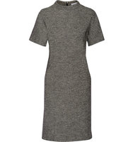 Tomas Maier Tomas Maier Herringbone Cotton And Wool Blend Dress Dark Gray