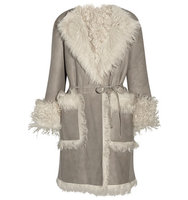 Tomas Maier Tomas Maier Reversible Shearling Coat Light Gray