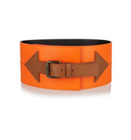 Tomas Maier Tomas Maier Two Tone Leather Belt Orange