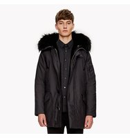 Convertible Fur Hood Puffer Coat