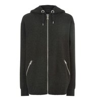 Topshop Boiled Wool Oversized Hoodie by Ivy Park
