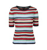 Topshop Multi Colour Crochet Tee