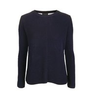 Topshop Navy Stripe Back Hybrid Jumper